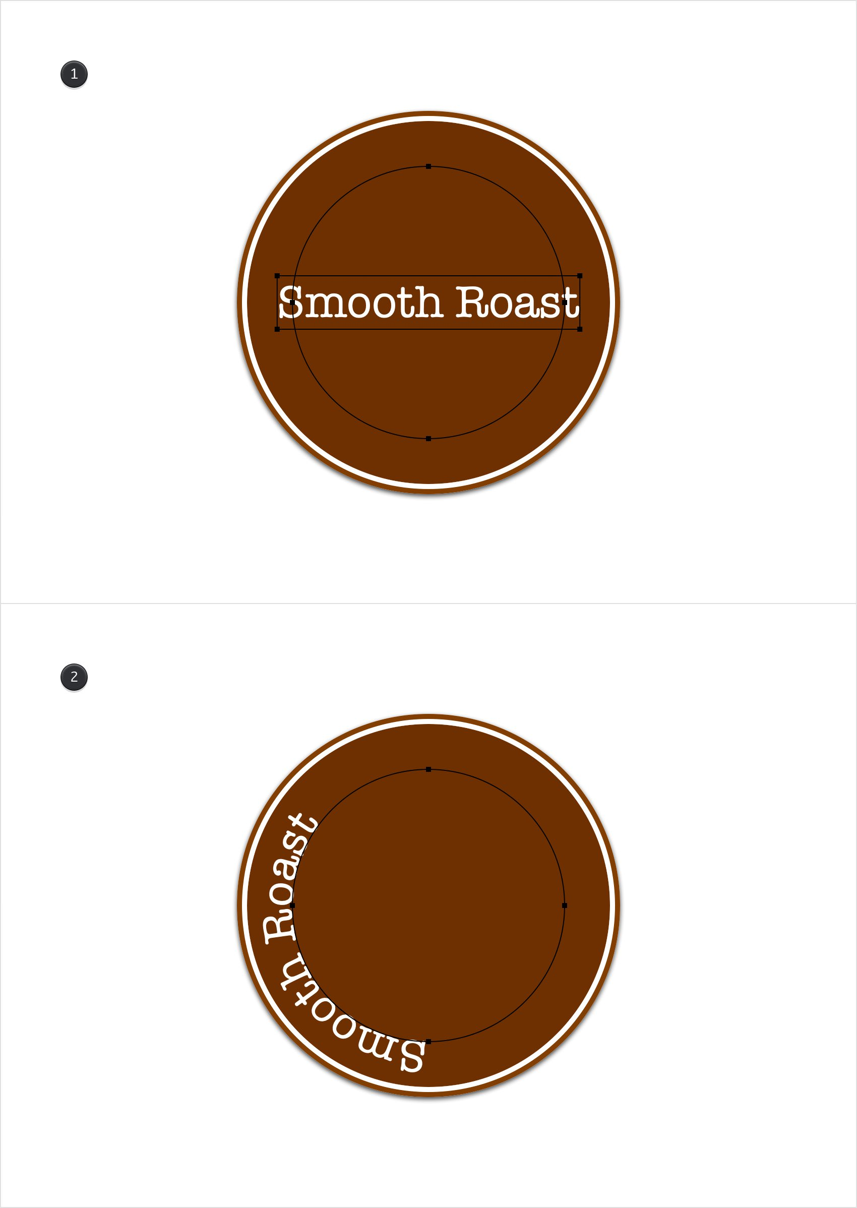 Graphic - Design a Logo with Curved Text